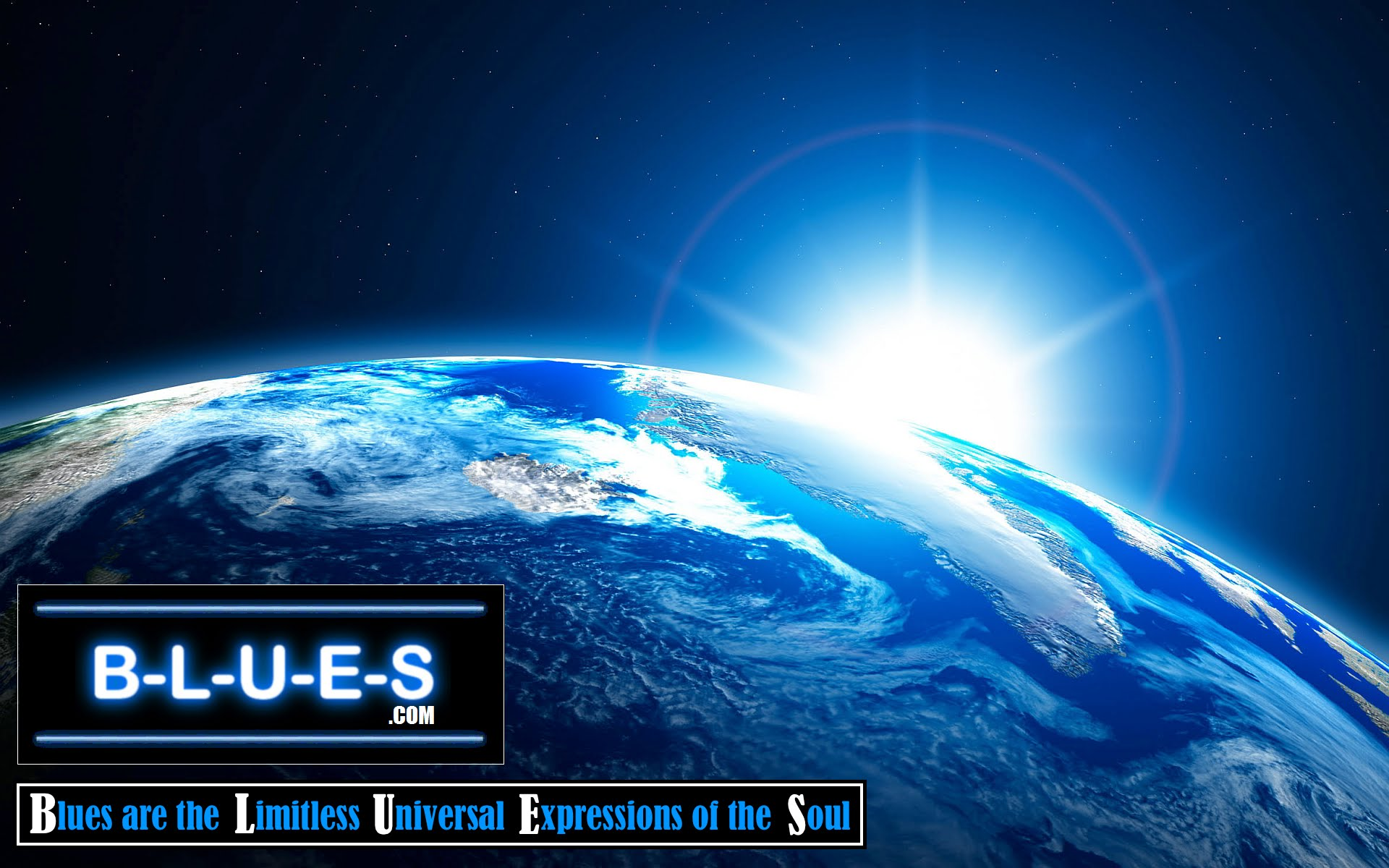 B-L-U-E-S.com Blues Earth Wallpaper